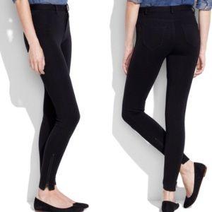 Madewell Skinny Skinny Ponte Pant in Black Size 8